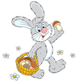 Bunny with mushrooms vector image vector image