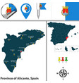 province of alicante spain vector image vector image