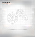 abstract gear wheel background vector image