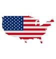 Map and flag of USA vector image vector image