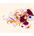Abstract background with bird vector image vector image