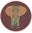 Stylized elephant vector image