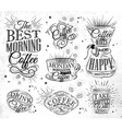Coffee Signs vector image vector image