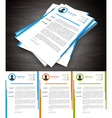 Cover Letter vector image vector image