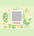 baby green set vector image