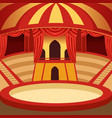 circus arena cartoon design classic stage with vector image