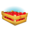 crate with tomatoes vector image