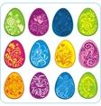 Eggs Easter design - set vector image