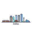 flat line dallas banner vector image