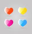 glass shiny multicolored hearts vector image