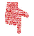 hand pointer down fabric textured icon vector image