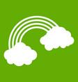 rainbow icon green vector image