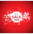 Sale poligonal geometric banner on red background vector image