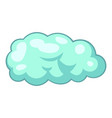 snow cloud icon cartoon style vector image