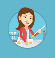 student working at laboratory class vector image