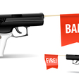 Toy gun vector image