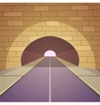 Tunnel Road vector image