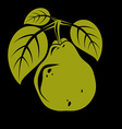 Harvesting symbol fruit isolated Single organic vector image