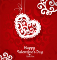Delicate abstract Valentine card vector image