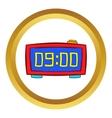 Digital table clock icon cartoon style vector image