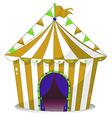 A big circus tent vector image vector image