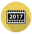 simple 2017 calendar icon vector image