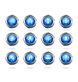 Zodiac astrology signs button set vector image vector image