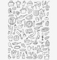 cookery food - doodles set vector image vector image