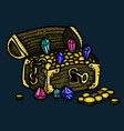 cartoon image of treasure chest vector image