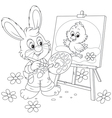 Easter Bunny drawing vector image vector image