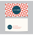 business card pattern red 07 vector image