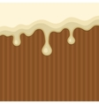 White Melted Chocolate Streams Background vector image