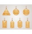 Cardboard sale labels price tags set vector image vector image