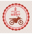 motorcycle rider design vector image