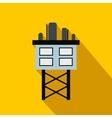 Oil platform flat icon vector image