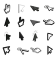 Mouse pointer icons set isometric 3d style vector image