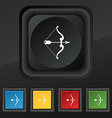 bow and arrow icon symbol Set of five colorful vector image