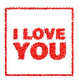 i love you abstract holiday background with vector image