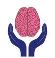 mental health sign human brain as concept vector image