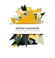 Modern polygonal background vector image