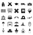 pupil icons set simple style vector image