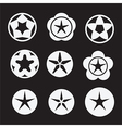 bright star icon set vector image vector image