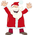 happy santa cartoon vector image