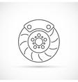 Brake disc outline icon vector image