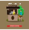Street coffee shop concept banner Takeaway vector image