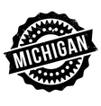 Michigan stamp rubber grunge vector image