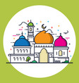 modern line style islamic mosque vector image