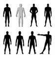 fashion man woman figure set vector image vector image