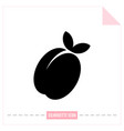 flat icon of peach apricot digital object of vector image