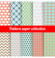 Collection of Chic Seamless patterns vector image vector image